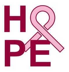 Breast cancer hope vector