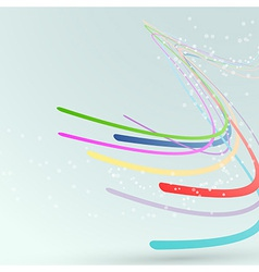 Bright abstract lines streaming background vector