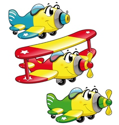 Cartoon airplanes vector