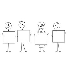 cartoon four people or vector image