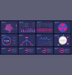 charts admin dashboard financial analytical vector image