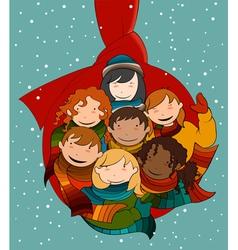 Christmas ball called hug vector