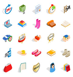 commercial icons set isometric style vector image