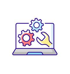 Computer repair service rgb color icon vector