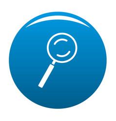 cursor magnifier element icon blue vector image