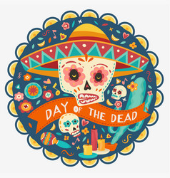 day dead vector image