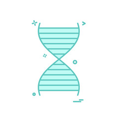 dna icon design vector image