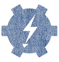 Electric power gear fabric textured icon vector