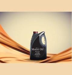 engine or motor oil on light golden bokeh vector image