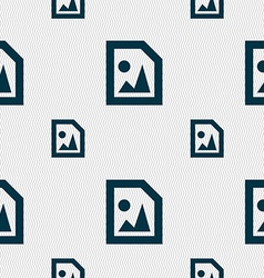 File JPG icon sign Seamless pattern with geometric vector
