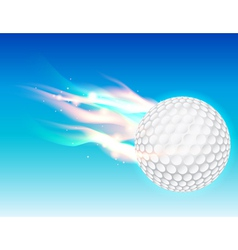 Flaming Golf Ball vector image
