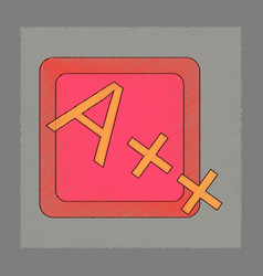 flat shading style icon exam score excellent vector image