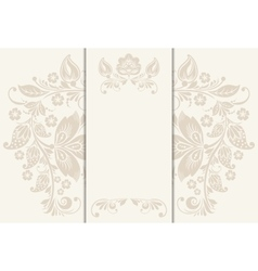 Floral rustic wedding cards beautiful vector