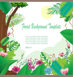 forest frame and border background template vector image