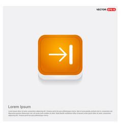 forward icon orange abstract web button vector image