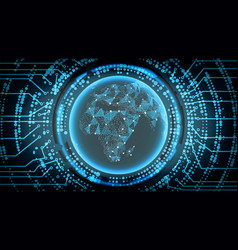 Future technology cyber concept background africa vector