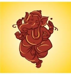 Ganesh sculpture vector image