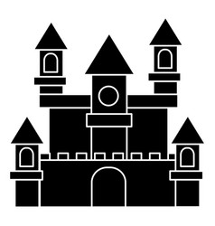 German castle icon black vector