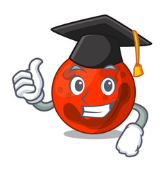 Graduation mars planet character cartoon vector