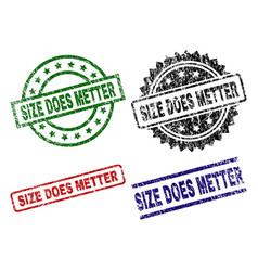 Grunge textured size does metter stamp seals vector