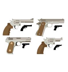gun set icon flat vector image