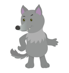 hand drawn wolf natural colors vector image