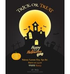 Happy Halloween party poster flyer banner vector image