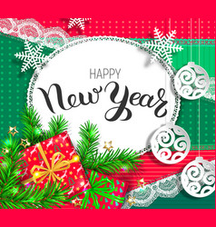 happy new year bright design vector image