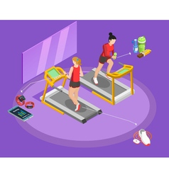 Healthy Lifestyle Isometric Template vector image