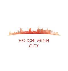 ho chi minh city skyline silhouette design vector image