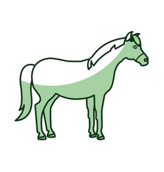 Horse animal farm icon vector