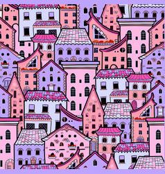 Houses new pattern 3 vector