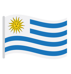 isolated uruguayan flag vector image