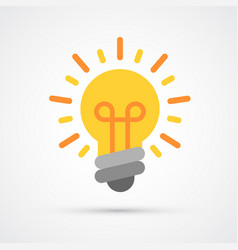 light bulb idea trendy symbol trendy vector image
