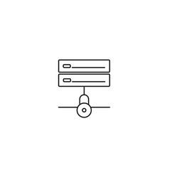 locked server icon vector image