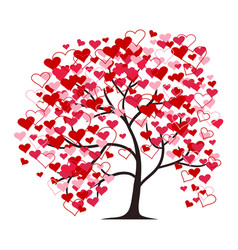 love tree isolated on white background vector image
