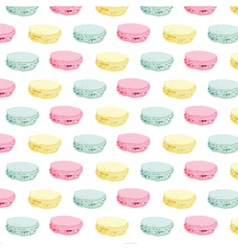 Macaroons colorful pattern vector