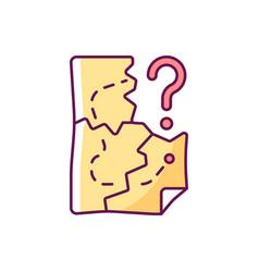 map pieces rgb color icon vector image