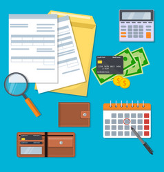 money and tax set vector image