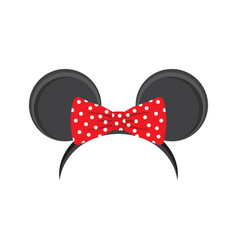 Mouse ears headband for carnival vector