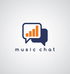 Music equalizer chat theme vector
