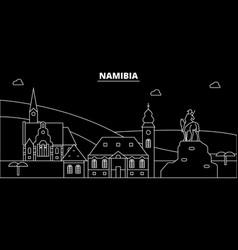 namibia silhouette skyline city namibian vector image