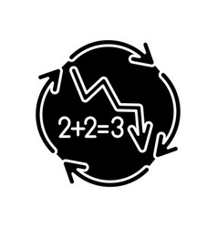 negative synergy black glyph icon vector image