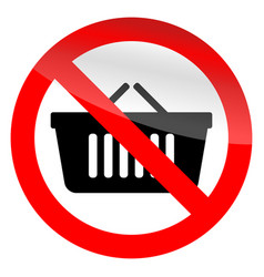 no cart shop vector image