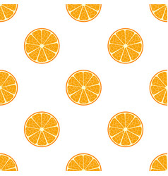 orange flat seamless patternvegetarian fresh food vector image
