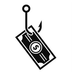 phishing money icon simple style vector image