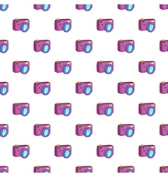 Photo camera pattern cartoon style vector