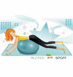 Pilates fitness icon vector