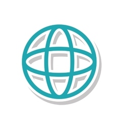 planet sphere isolated icon vector image