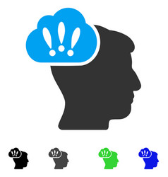 Problem brainstorm flat icon vector